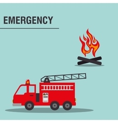 Fire truck emergency vehicle vector