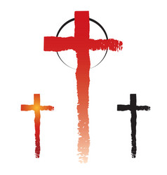 christianity cross symbols vector image