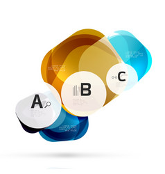 shiny abstract elements vector image