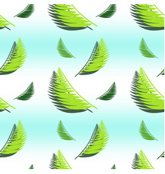 Gradient seamless pattern with palm leaves vector