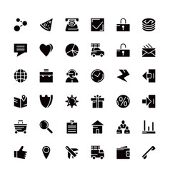 navigation web store and business icons vector image
