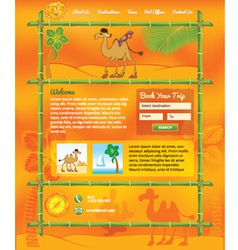 Tropic Travel Concept for Web Site vector image
