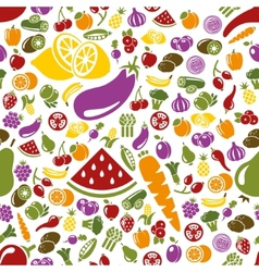Fruits and vegetable seamless pattern vector