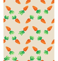 Carrot seamless pattern carrots for bunny vector