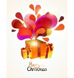Christmas gifts with abstract explosion vector