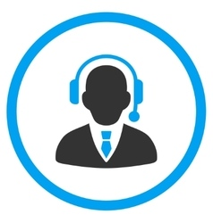 Call center manager icon vector