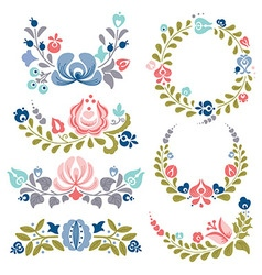Floral ornaments and frames vector