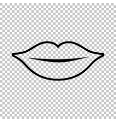 Lips sign line icon vector