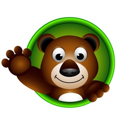 Cute bear head cartoon vector