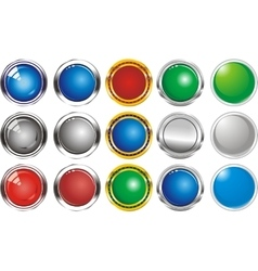 A set of buttons icons grey gloss vector