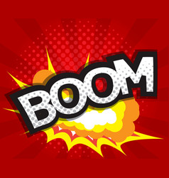 Abstract boom comic book pop art background vector