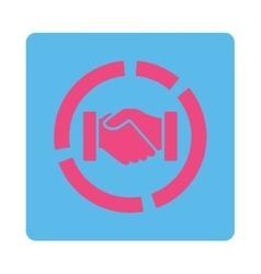 Acquisition diagram icon vector image