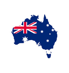 Australia map and flag vector