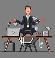buisnessman ceep calm on work vector image