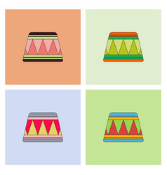 Circle circus or theater stage collection vector