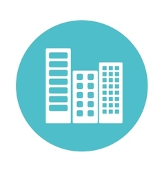 City buildings isolated icon vector