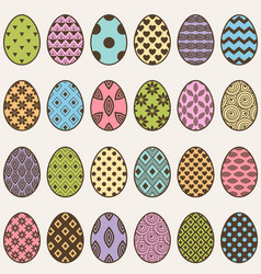 colorful eggs set for easter vector image