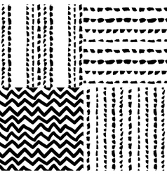 Decorative seamless pattern with handdrawn shapes vector image vector image