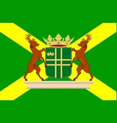 flag of aa en hunze of netherlands vector image