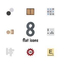 Flat icon play set of lottery mahjong xo and vector