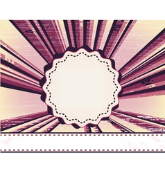 frame with rounded corners on the background with vector image vector image