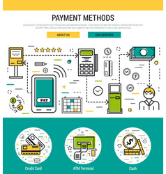 header template - payment methods vector image vector image