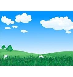 landscape 1 vector image vector image