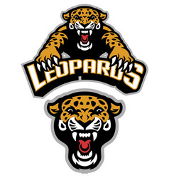 leopard mascot set vector image