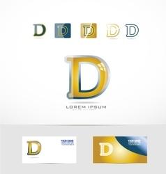 Letter d yellow gold logo vector
