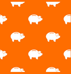 Piggy pattern seamless vector