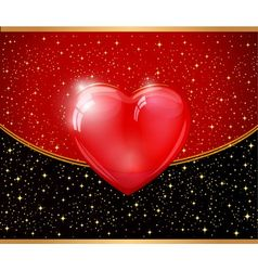 Red Heart And Background vector image