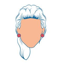 Retro woman icon vector