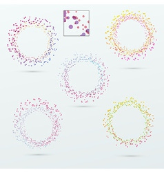 Round circle design elements collection vector