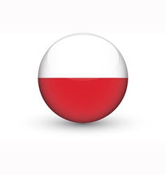 Round icon with national flag of Poland vector image vector image