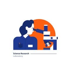 Science lab scientific research laboratory woman vector