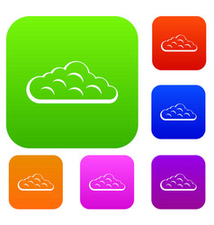 sky cloud set color collection vector image