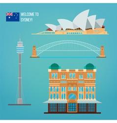 Sydney architecture tourism australia opera house vector