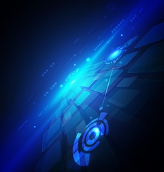 Technology circuit futuristic background vector