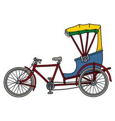The classic rickshaw vector