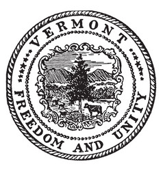 The great seal of vermont vintage vector