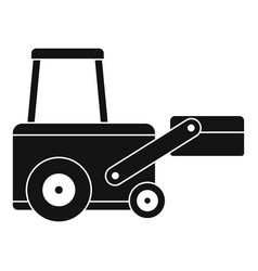 Truck to lift cargo icon simple vector