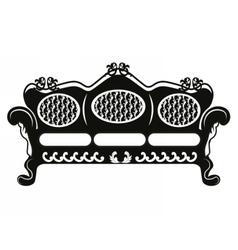 Vintage baroque sofa round shaped vector