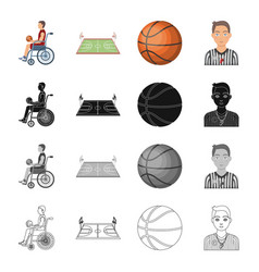 wheelchair disabled man and other web icon in vector image