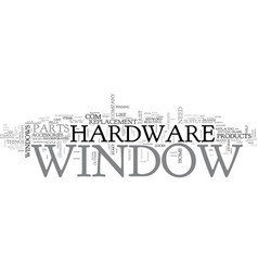 Window hardware text word cloud concept vector