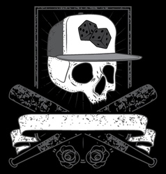skull with cap vector image