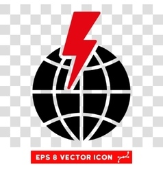 Global shock eps icon vector