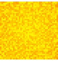 Abstract yellow pixel mosaic seamless background vector