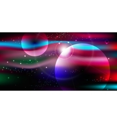 Space background with stars nebula milky way vector