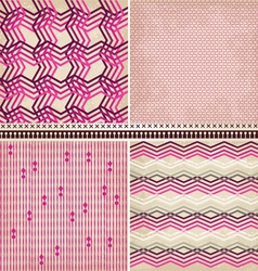 4 geometric patterns set vector image