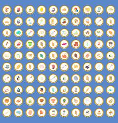 100 home icons set cartoon vector